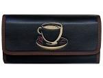 Serviceportemonnaie Kaffeetasse schwarz