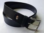 Gürtel Leder schwarz, 4 cm, Nickel silber, selber kürzbar