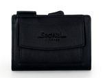 SecWal Kartenetui mit Druckknopf-Münzfach, schwarz