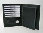 Portemonnaie Leder schwarz mit Victorinox Messer