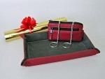 Taschenleerer und Schlüsseletui bordeaux, Geschenkverpackung